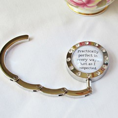 Mary Poppins Bag Hanger Foldable Purse Hook Quote Practically Perfect In Every