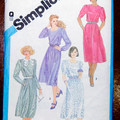 Simplicity 6489 - 1980s Dress pattern Sewing pattern Size 14 UNCUT