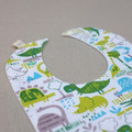 bib dinosaurs / eco friendly organic cotton / unisex