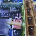 KURILPA BY NIGHT  Original Pastel Painting