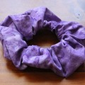 Hair Scrunchie - Batik Purple, Full Size & Mini