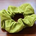 Tropical Lime Green Hair Scrunchie - Full Size & Mini