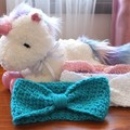 Crocheted Headband for Babies/Toddlers - Teal Blue - Handmade, Soft and Stretchy