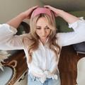FREE POST  Scarf / Hair Tie - Dusty Pink Corduroy