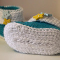 Baby Booties with Blue & Yellow Stars for 0-6 and 6-12 months