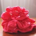 Hair Scrunchie - Pink, Full Size & Mini