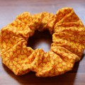 Juicy Orange Hair Scrunchie - Ponytail & Bun