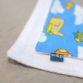 wash cloth - blue planes / organic cotton hemp fleece / eco friendly