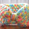 Crocheted Headband for Babies/Toddlers - Rainbow - Handmade, Soft and Stretchy