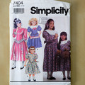 Simplicity 7404 sewing pattern, girls dress pattern, sizes 7 to 14