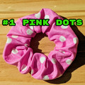 Scrunchies Wrap Hair Ties band Bun Hair accessories PINK LILAC BLUE GREEN DOTS