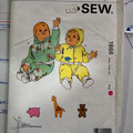 Kwik Sew pattern 1866 Baby jogging suits Sizes S, M, L, XL UNCUT