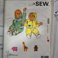 Kwik Sew pattern 1866 Baby jogging suits Sizes S, M, L, XL UNCUT