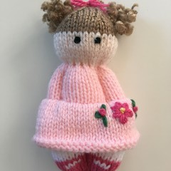 Ava - Hand Knitted Doll