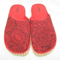 Red Hand painted espadrilles, red shoes,  graffiti shoes, wearable art shoes