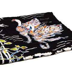 100 % Silk Hand-painted Batik Scarves - White Swans