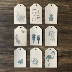 Hand-printed Gift Tags