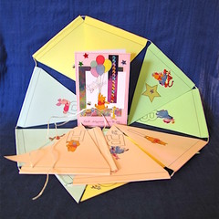 'Winnie the Pooh' Pink Birthday Card and Bunting Combo