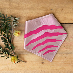 Medium - Tasmanian Tiger Pet Bandana - Pink