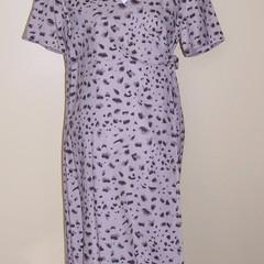 Crossover cotton animal print dress