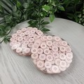 Mug Coasters - Pale Mauve Buttons For Drink or as a Paperweight - SINGLE- Resin