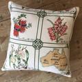 Vintage Linen Cushion w/ Feather Insert