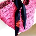 FREE POST  Scarf / Hair Tie - Black & Red