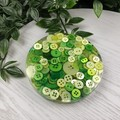 Mug Coasters - GREEN Buttons For Drink or as a Paperweight - SINGLE- Resin