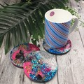 Milky Way Mug Coasters - For Drink or as a Paperweight - SINGLE- Resin