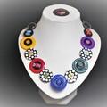 Unique button necklace  -  A Spot of Colour
