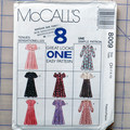 McCall's sewing pattern 8009, girls dress sizes 7 8 10