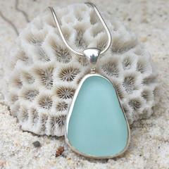 Bay Shallows Sea Glass Pendant