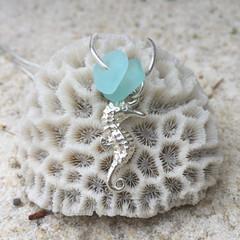 Seahorse Pier Sea Glass Pendant