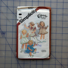 Toddler Cinderella dress pattern - Simplicity 5257 - Size 1 - Uncut