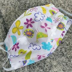 Triple Layer Face Mask - 100% cotton fabric - Pretty & Petite
