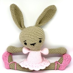 ballerina bunny, FREE DELIVERY, crochet toy, softie, baby girl toy