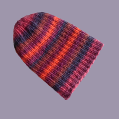 Ribbed Wool Beanie in Adult Size