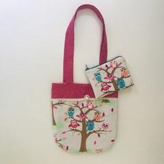 Owls handbag and purse