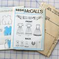 McCall's sewing pattern 6854,  girls dress pattern, size 12
