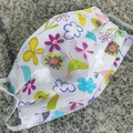 Triple Layer Face Mask - 100% cotton fabric - Pretty & Petite