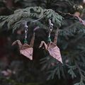 Brown Origami Earrings