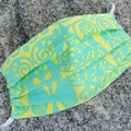 Triple Layer Face Mask - 100% cotton fabric - Luscious Lime