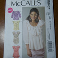 McCall's Top Pattern M6467 ruffle blouse pattern. Sizes 6 - 14