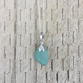 Mermaid Wish Sea Glass Pendant