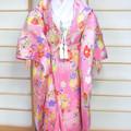 Handmade Japanese wedding kimono for Barbie dolls and similar sized dolls