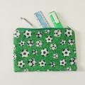 Green soccer pencil case