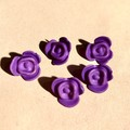 Rose beads -15mm - 5 pieces -Button - Pink purple yellow orange green