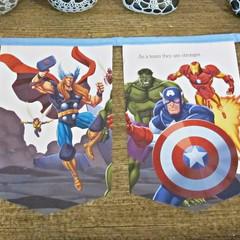 The Avengers Birthday Party Bunting Superhero Nursery Baby Shower Blue Captain