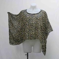 Plus size Leopard shrug, silk crop top, cover up, animal print bolero, upcycled