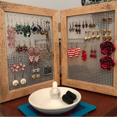 Earring organizer, stud & loop earring storage display